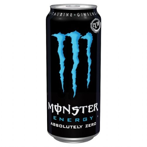 Monster Energy Absolutely Zero 500ml Case 12 Cans  (UK)